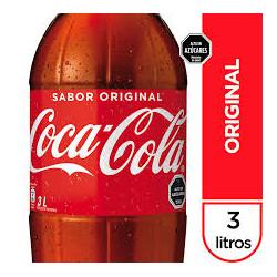 Bebida Coca Cola 3 Lt Original