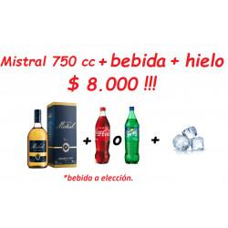 Pisco Mistral 35° 750 cc +...