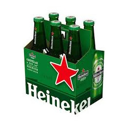 Pack 6u Cerveza Heineken 355cc